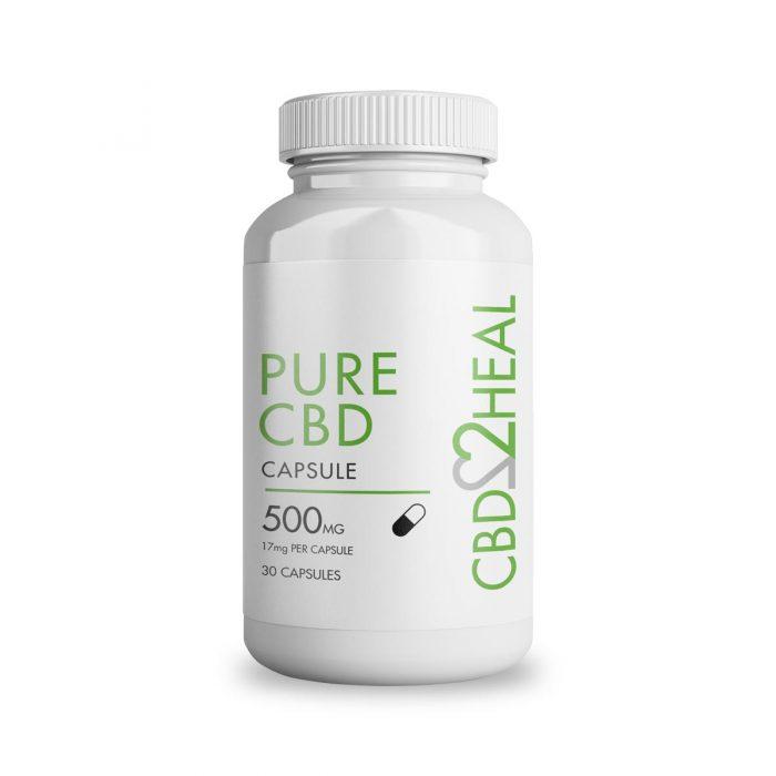 Pure CBD Oil Capsules 500mg